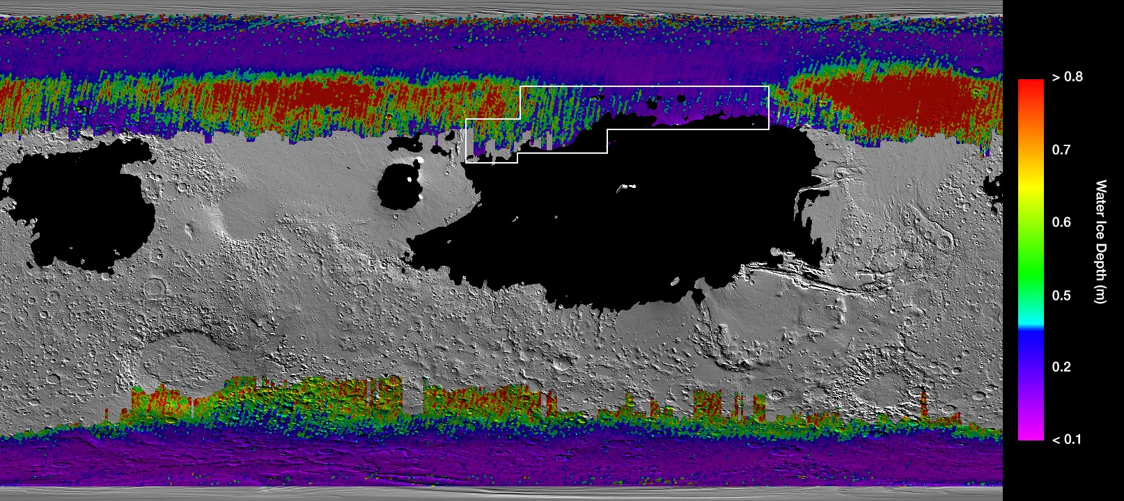 Underground Water Ice Map